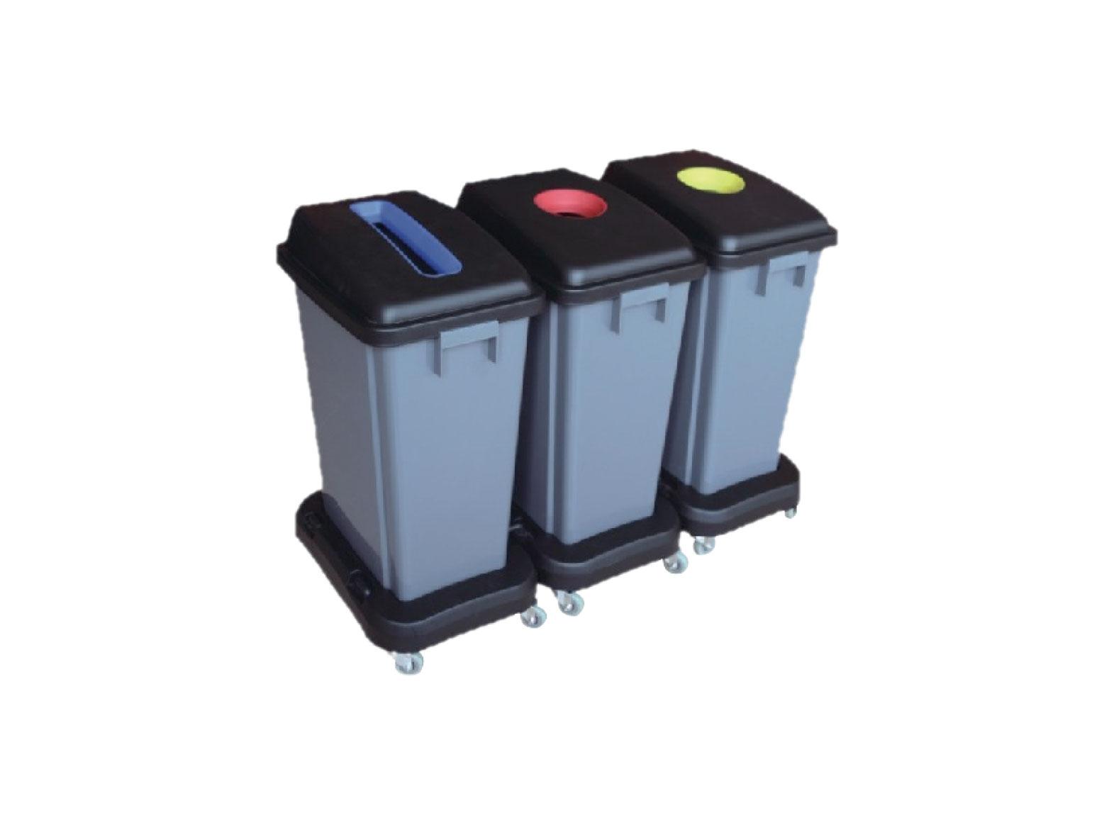 Waste classification plastic bin with wheel