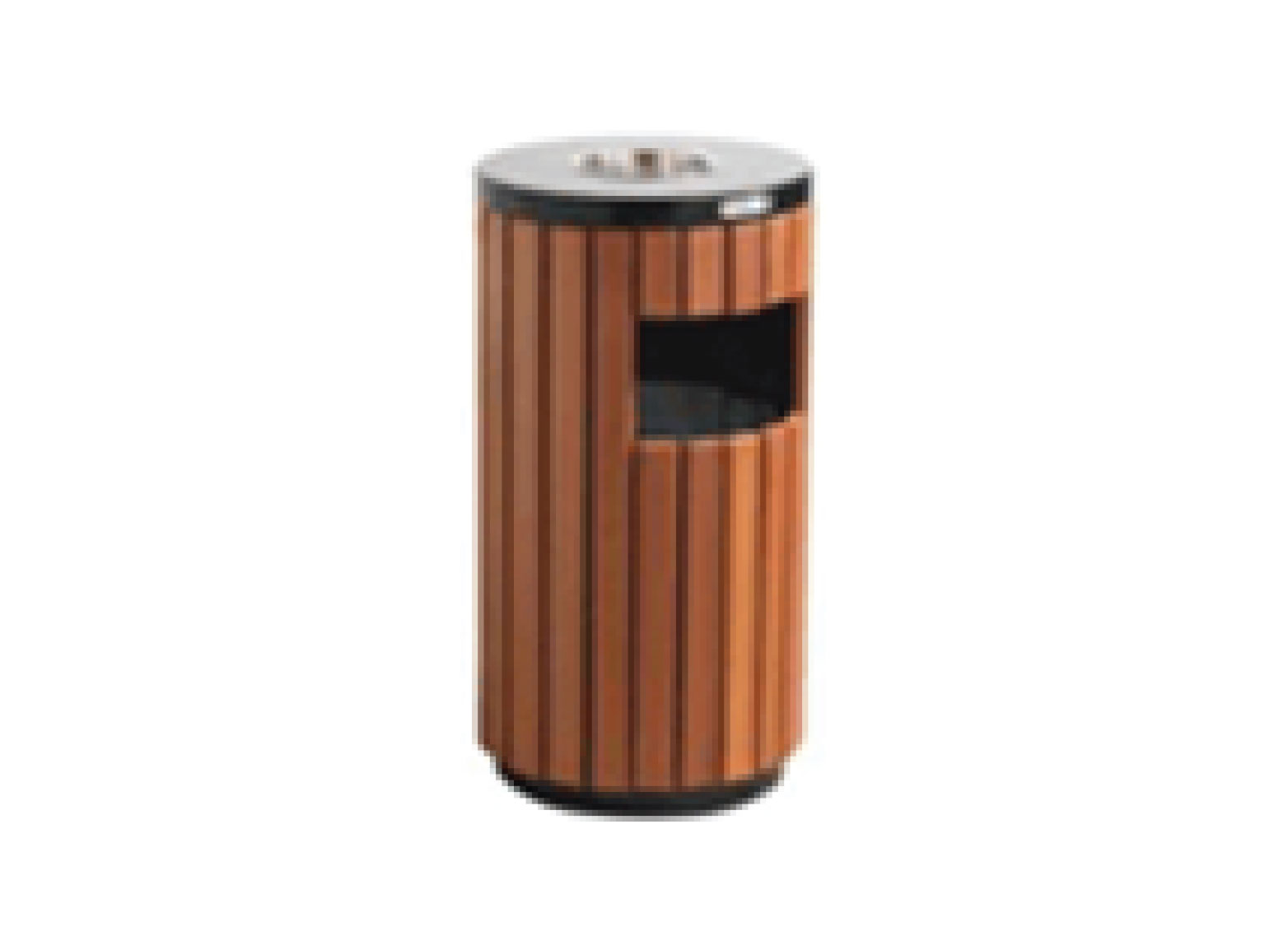 Wooden Outdoor Bin With Ashtray
