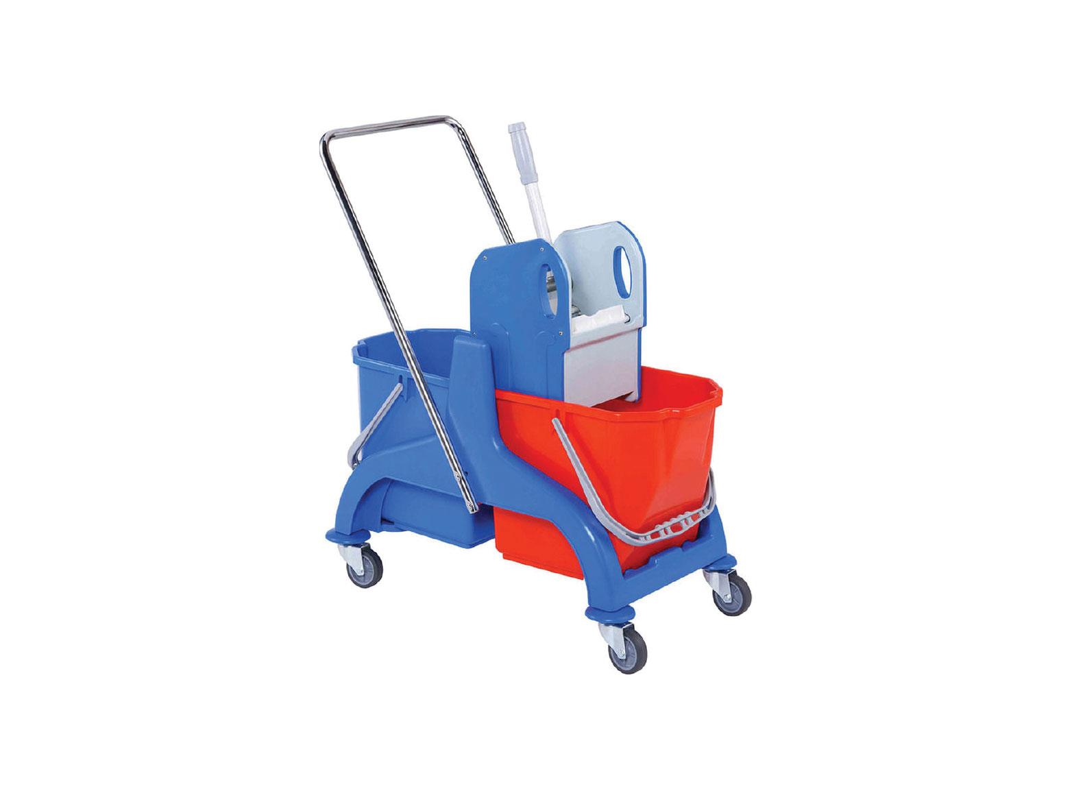 Double Mop Bucket Trolley